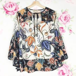 Flying Tomato Printed Floral Paisley Boho Blouse S